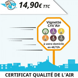 Vignette Crit'Air (certificat qualité de l'air)