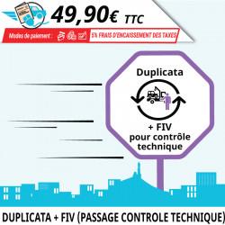 Duplicata en ligne d'une carte grise avec contrôle technique à refaire