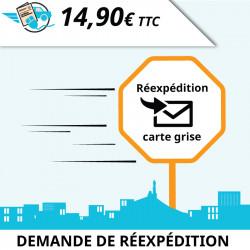 Demande de réexpédition suite à une procédure effectuée sur cartegrisemarseille.fr