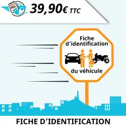 Fiche d'identification de véhicule