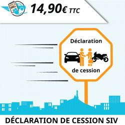 Déclaration de cession (vente ou don d'un véhicule)